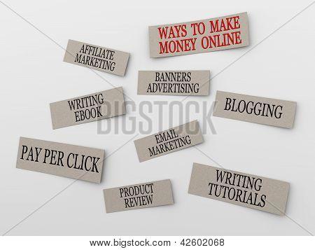3D Concept Of Making Money Online