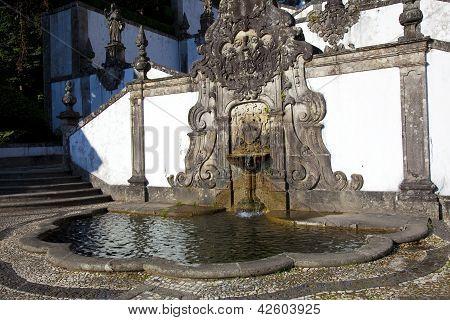 Fountain In Bom Jesus Do Monte, Braga, Portugal