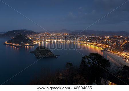 Blick auf San Sebastian, Baskenland, Spanien