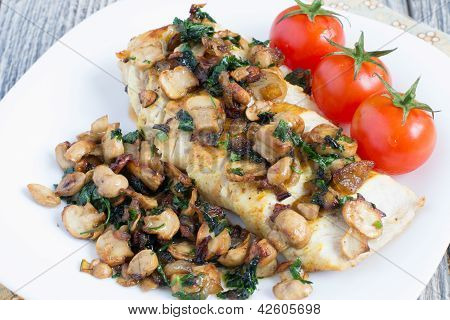 Chicken Breast With Champignons