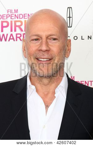 LOS ANGELES - FEB 23:  Bruce Willis attends the 2013 Film Independent Spirit Awards at the Tent on the Beach on February 23, 2013 in Santa Monica, CA