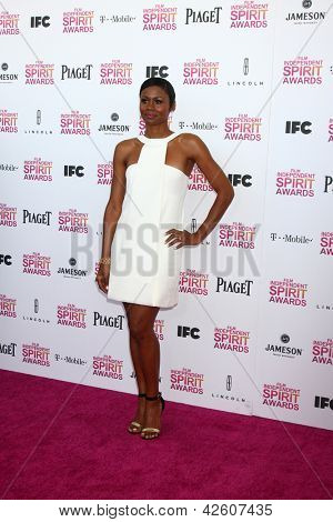 LOS ANGELES - FEB 23:  Emayatzy Corinealdi attends the 2013 Film Independent Spirit Awards at the Tent on the Beach on February 23, 2013 in Santa Monica, CA