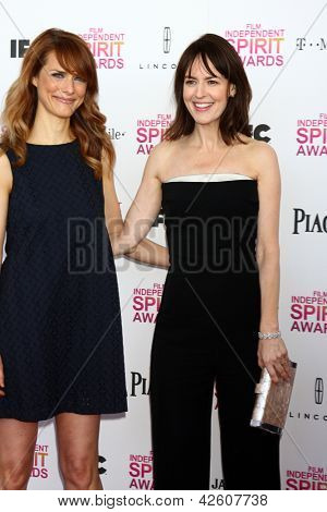 LOS ANGELES - FEB 23:  Lynn Shelton, Rosemarie DeWitt attends the 2013 Film Independent Spirit Awards at the Tent on the Beach on February 23, 2013 in Santa Monica, CA