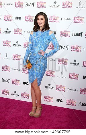LOS ANGELES - FEB 23:  Mary Elizabeth Winstead attends the 2013 Film Independent Spirit Awards at the Tent on the Beach on February 23, 2013 in Santa Monica, CA