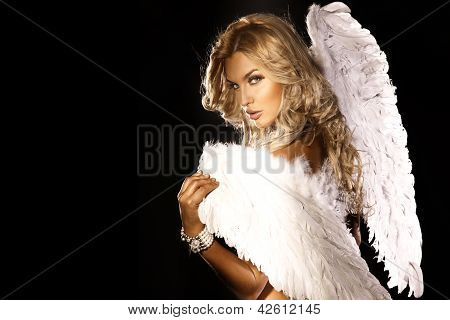 Portrait Of Gorgeous Blonde Angel.