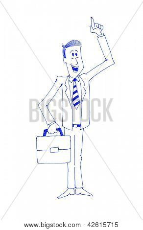 Enthusiastic businessman