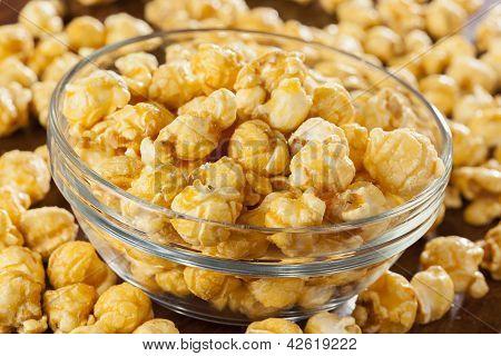 Homemade Fresh Popped Caramel Popcorn