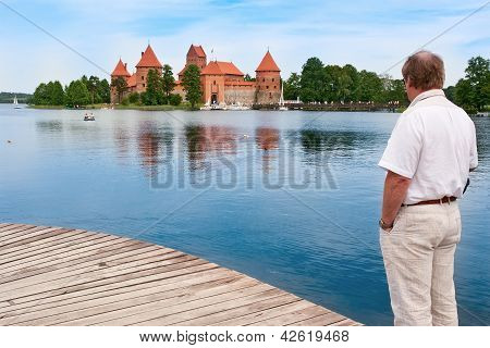 Middle-aged Man In Trakai, Lithuania