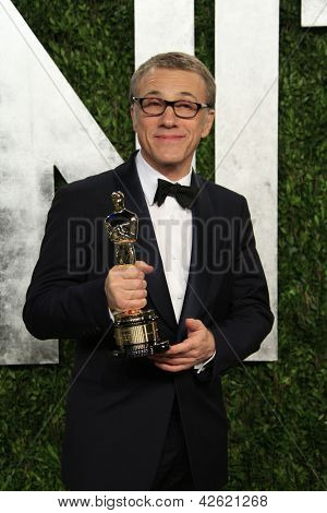 WEST HOLLYWOOD, CA - FEB 24: Christoph Waltz at the Vanity Fair Oscar Party at Sunset Tower on February 24, 2013 in West Hollywood, California