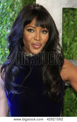 WEST HOLLYWOOD, CA - FEB 24: Naomi Campbell at the Vanity Fair Oscar Party at Sunset Tower on February 24, 2013 in West Hollywood, California