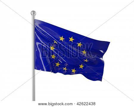 european flag isolated on white