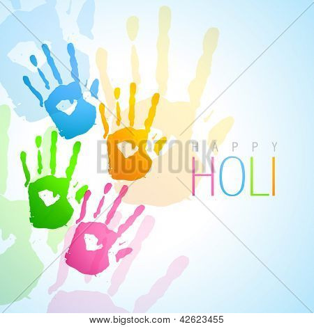 vector colorful hands holi festival background
