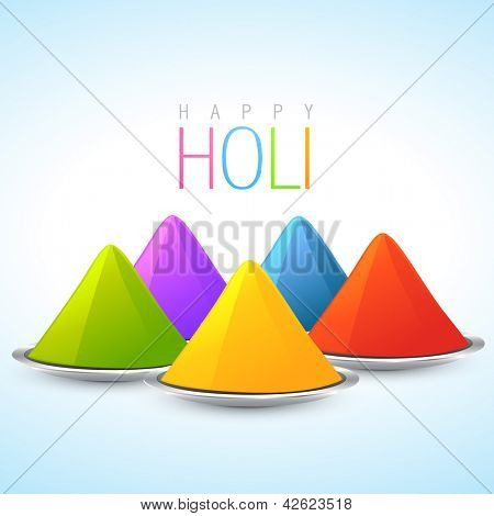 vector indian holi festival colorful gulal illustration