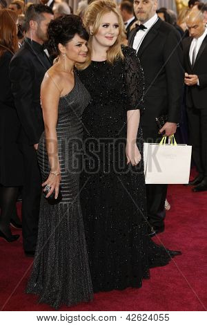 LOS ANGELES, CA - FEB 24: Nora Jones, Adele at the 85th Annual Academy Awards on February 24, 2013 in Los Angeles, California