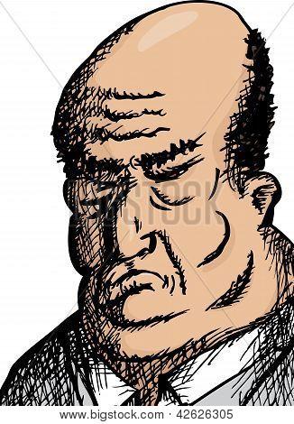 großer Mann hautnah