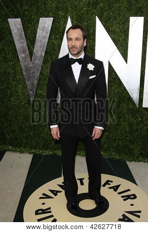 WEST HOLLYWOOD, CA - FEB 24: Tom Ford at the Vanity Fair Oscar Party at Sunset Tower on February 24, 2013 in West Hollywood, California