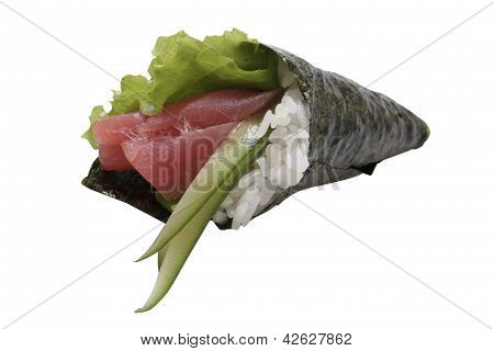 Hand Rolled Maguro Sushi