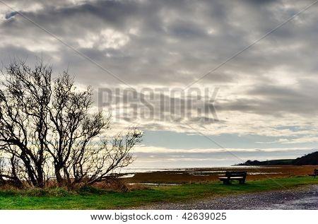 View across Morecambe Bay, from Bardsea Beach.