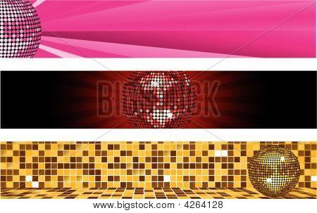 Disco Ball Banners
