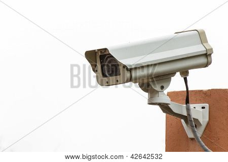 Cctv On White Background
