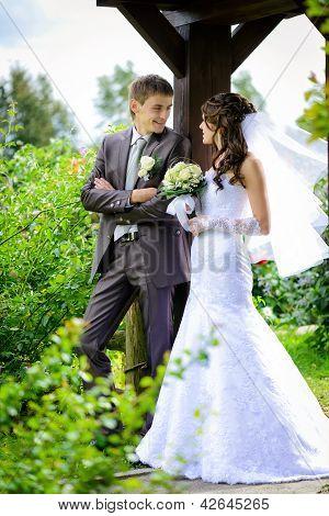 Bride And Groom Outdoor