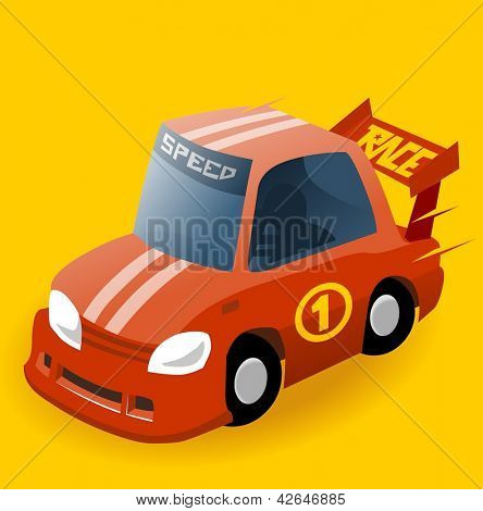 Nascar Race Car. Vector illustration