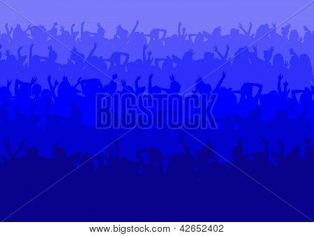 Multitud de fiesta