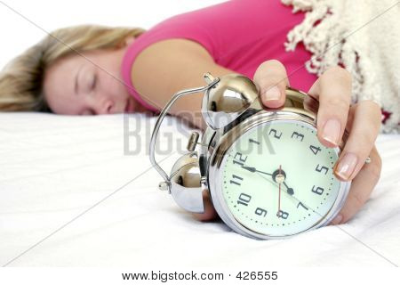 Woman And Alarm