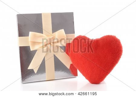 Photo of Silver gift and Heart