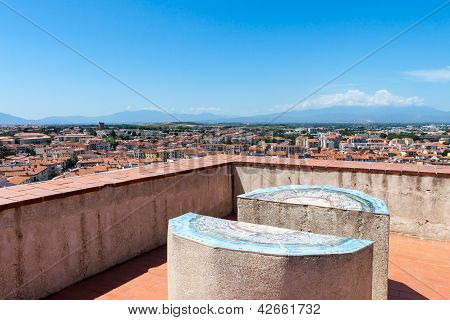 View From The Roof In Perpignan, France
