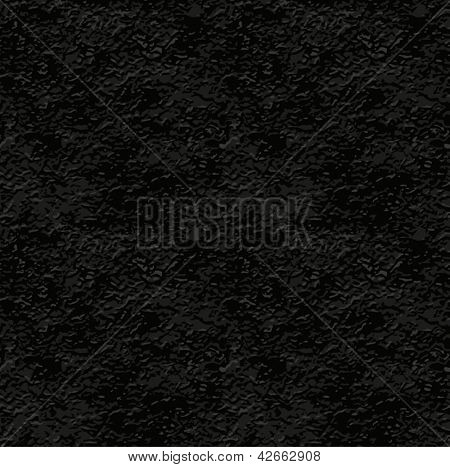 seamless texture of black stucco wall. EPS10. Vector Illustration.