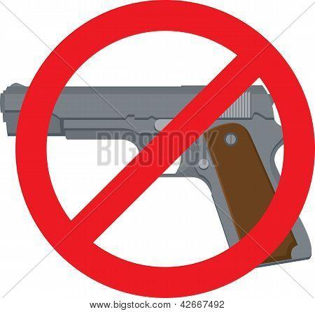 Não há armas de fogo