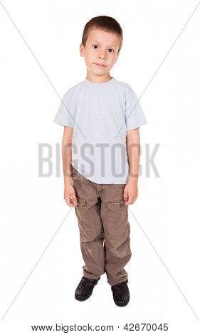 sad boy isolated