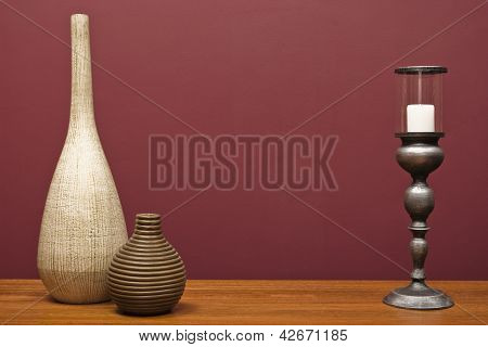 Vases And A Candle Holder