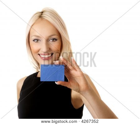 Woman With Businesscard