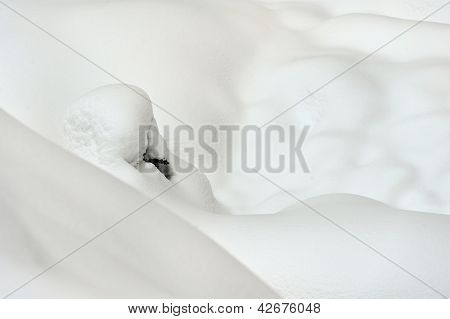 Fresh snow cover at winter