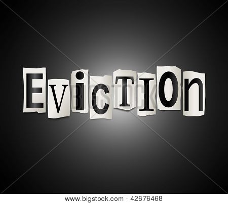 Eviction Concept.