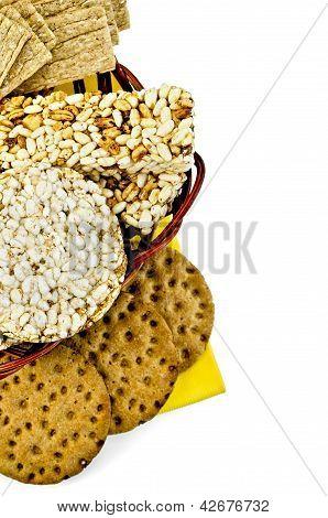 Crispbread in a basket