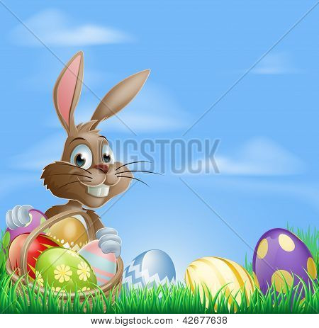 Easter Background Scene