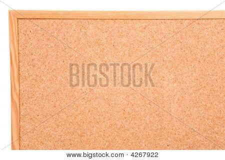 Foto eines leeren Cork-Board