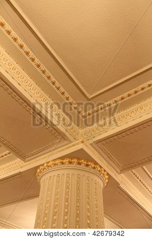 Fragments Of Columns And Decorative Ceiling