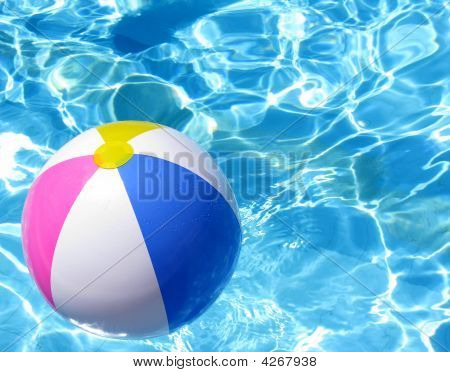 Beach Ball In Swimming Poll