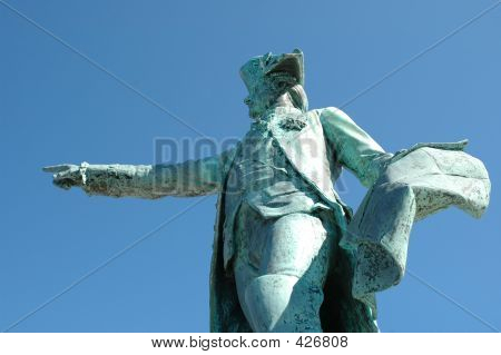 Pointing Statue