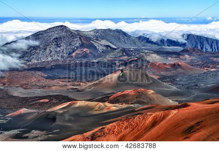 Caldera of the Haleakala volcano  Maui, Hawaii