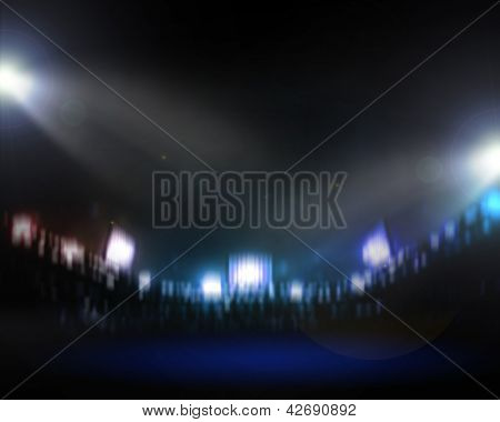 Image of defocused stadium lights at night