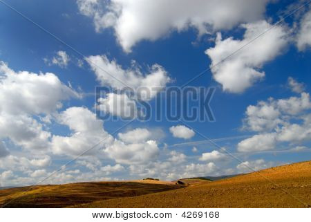 Sky, Clouds And Ground