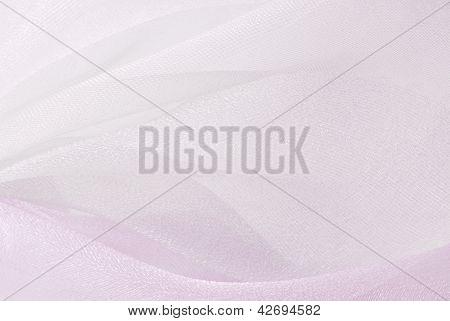 textura de la tela de organza rosa