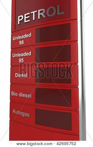 Signo rojo gasolinera