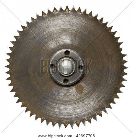 Old rusty circular saw blade