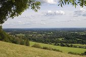 foto of dork  - View South over countryside from Box Hill on the North Downs at Dorking - JPG